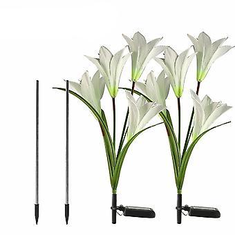 Kvetina v tvare Led Solárne trávnik lampy svetla pre záhradu a vianočné dekor