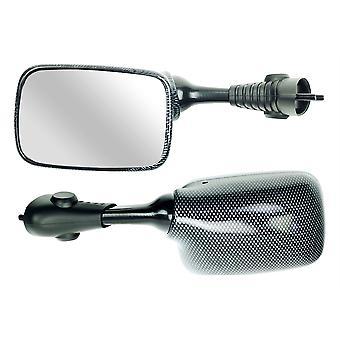 Bike It Left Hand Motorcycle Mirror Carbon Effect SGSXRCBNL Compatible with Suzuki
