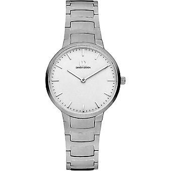Deens design Faro Horloge - Zilver/Wit