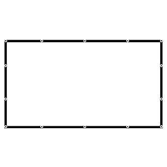 Material de pantalla de proyección plegable anti-crease pantalla de películas de proyector portátil para exteriores en interiores