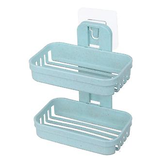 Wall Double Soap Dishes Box Shower Soap Tray Holder For Bathroom