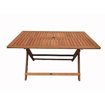 Mesa plegable en madera ex-tica 'quot;Hong Kong'quot; - Maple - 135 x 80 cm - Marron claro