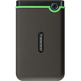 Transcend 2 TB Slim StoreJet 25M3S, Rugged External Hard Drive