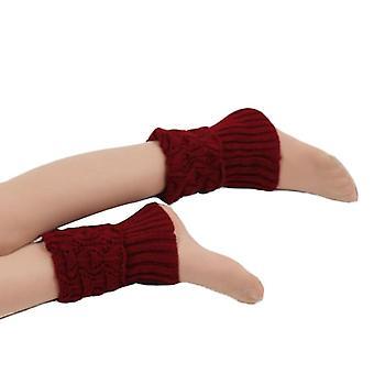 المرأة الكروشيه التمهيد الأصفاد، متماسكة الجوارب Toppers لالدفء الساق الشتاء