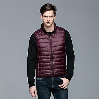 90% White Duck Down Vest Gilet Casual Waistcoat Spring/autumn Light Down Jacket