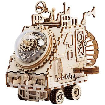 ROBOTIME Space Vehicle Music Box Model to Build - Laser Cut Puzzle Jigsaw Toys