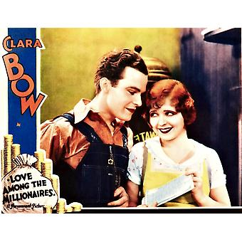 Love Among The Millionaires L-R Stanley Smith Clara Bow On Lobbycard 1930 Movie Poster Masterprint