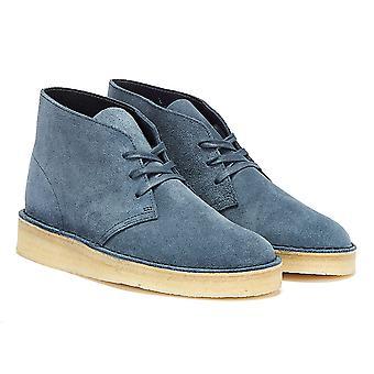 كلاركس الصحراء الفحم جلد الغزال الرجال الأحذية الزرقاء