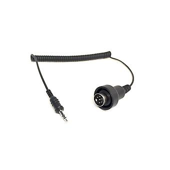 3,5 mm stereouttag till 6 pin Din-kabel BMW K1200LT