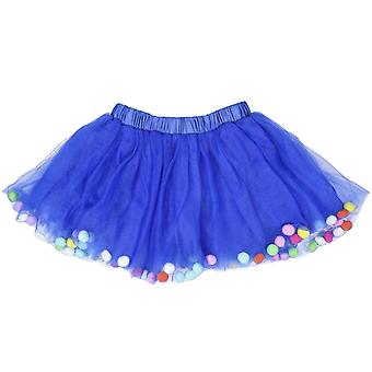Skirt With Balls & Necklace And Bracelet Accessory - 3pcs Set