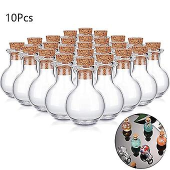 Mini Glass Wishing Bottle With Cork Stoppers Clear Drifting Small Wishing