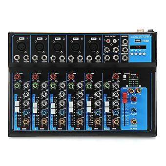7 Channel bluetooth Professional Audio Mixer Mixing Console for Performance Stage Wedding Speech Bro