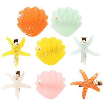 Stylový akrylový shell klip na vlasy pro dívky 4 páry