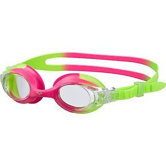 Arena X-Lite barn simma goggle - klarglas - grön/rosa