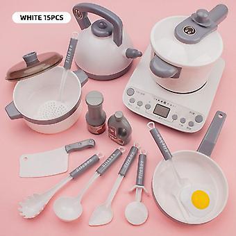 Barn Kjøkken Simulering, Kjøkkenutstyr Mat Kokekar, Gryte, Pan, Barn Late