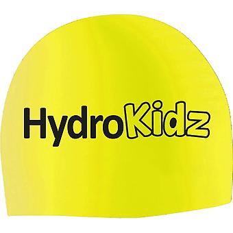 HydroKidz Children's Silicone Swim Caps -Yellow
