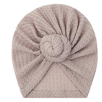 Baby Solid Waffle Crochet Knit Hat Bonnet Beanies Head Wraps Cap