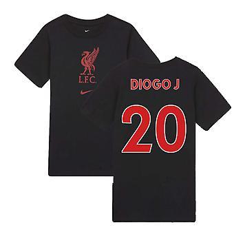 2020-2021 Liverpool Evergreen Crest Tee (Black) (DIOGO J 20)