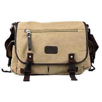 Miesten kangas vintage crossbody satchel olkapää rento messenger koulukirja laukku kameli