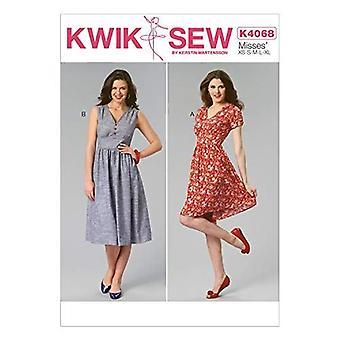 Kwik Sew Sewing Pattern 4068 Misses Dress Size XS-XL Uncut