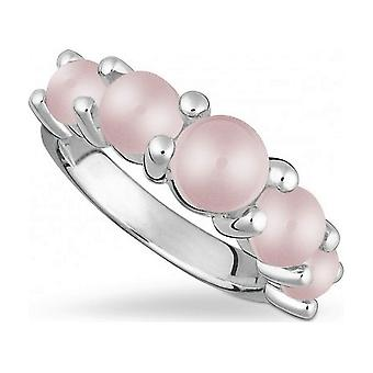 QUINN - Ring - السيدات - فضي 925 - الأحجار الكريمة - الكوارتز الوردي - العرض 56 - 21206630