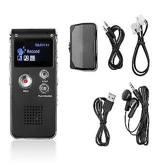 1セットポータブル液晶画面8gbデジタルボイスレコーダーディクタフォンプレーヤー電話オーディオレコーダーmp3 t4a9