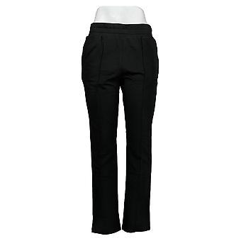LOGO by Lori Goldstein Women's Pants Regular French Terry Black A391872