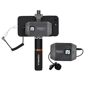 COMICA CVM-WS50(B) 6 Kanallı UHF Kablosuz Akıllı Telefon Lavalier Mikrofon Sistemi