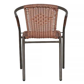 Gartenstuhl mit Weidenlook - Braun - 53x50x73 cm - Liegestuhl