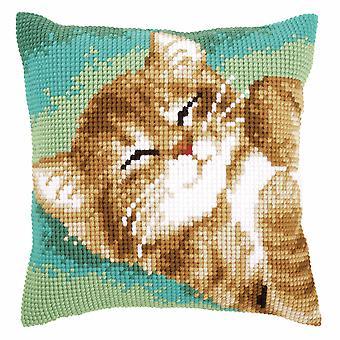 Vervaco Крест стежка Комплект: Подушка: Cat