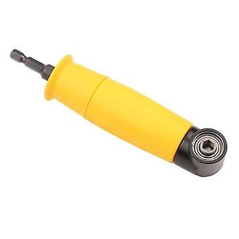 1/4 Inch Right Angle Attachment Right Angle Drill Driver Screwdriver Extension Holder Adapter 90 Degree Angle Yellow Hex Shank Screwdriver Socket Sleeve