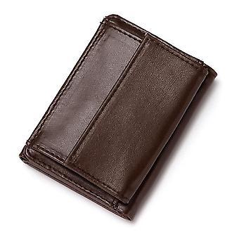 Slim Mini Wallet, Men's Wallet, Leather Hasp Coins Wallet Purse