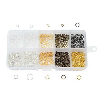 Grunnleggende om Beadaholique, Jump Ring Variety Pack, 560 deler, diverse overflater