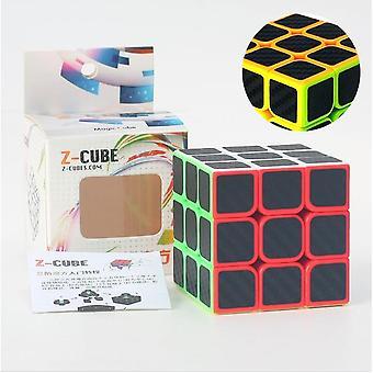 Fibra de carbon Autocolant Magic Cube Puzzle, Square Puzzle, Educațional