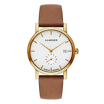 LLARSEN Analogueic Watch Quartz Woman with Leather Strap 137GWG3-GCAMEL18