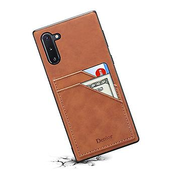Wallet leather case card slot for huawei mate20 brown on952