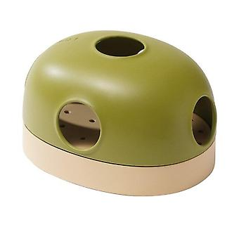 Multi use Pet Cat Toy Track Ball Tunnel Interactive Toys For Cats Kitten Games(green)