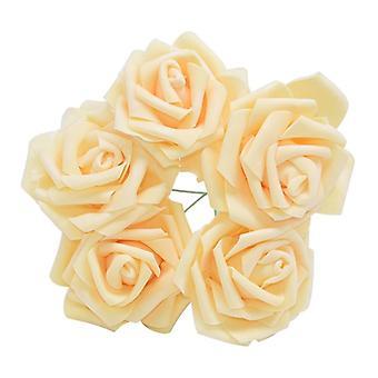 Konstgjord rosenblomma, sött pe skum, blommor buketter, handgjord krans,
