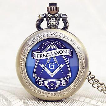 Freemasonry g design pocket watch