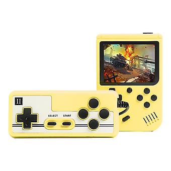 الأصفر 800 ألعاب مصغرة الرجعية الفيديو وحدة التحكم المحمولة لعبة اللاعبين cai768