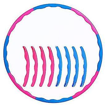 Vaaleanpunainen + sininen lasten hoola vanne, 8 solmua säädettävä hoola vanne urheiluun, kunto az21088