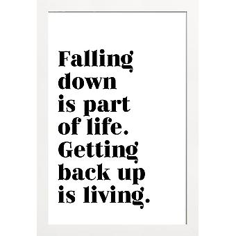 JUNIQE Print - Get Back Up - Typografia & Symbole Plakat w kolorze czarnym & białym