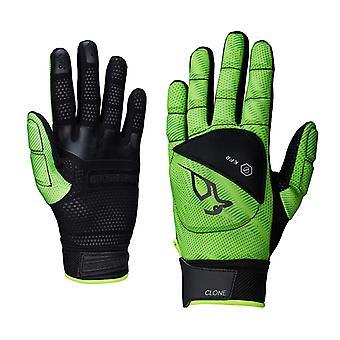 Kookaburra Klon voller Finger Hand Schutz schwarz/Lime kleine LH