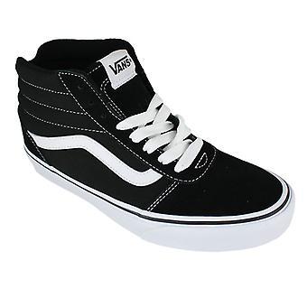 Vans ward hi suede canvas black/white - calzado hombre