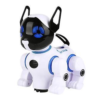 الأطفال التعليمية RC الروبوت الكلب التحكم عن بعد الحيوانات الأليفة الإلكترونية العالمية المشي الموسيقى الرقص طفل الكلب لعبة هدية