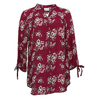 Joan Rivers Classics Collection Women's Top Floral Tunic Purple A310924