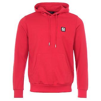 Diesel S-Girk D Logo Patch Hooded Sweatshirt - Red