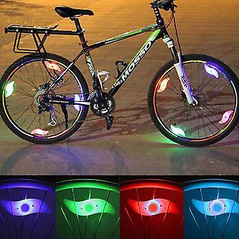 (Azul) 6pcs Bicicleta Bicicleta Bicicleta Rueda Radios Cable Neumático BRILLANTE LED Flash Luz
