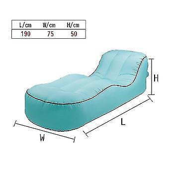 Oppustelige Lounger Air Sofa Hængekøje-bærbare, vand Proof & Anti-air utæt design (grøn)
