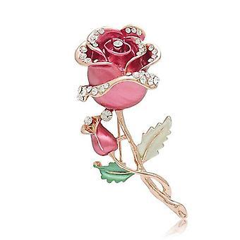 Brooch Rose Flower Wedding Bridal Pin Brooch